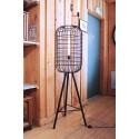 Lampadaire Vintage Industriel Cage sur trepied GM