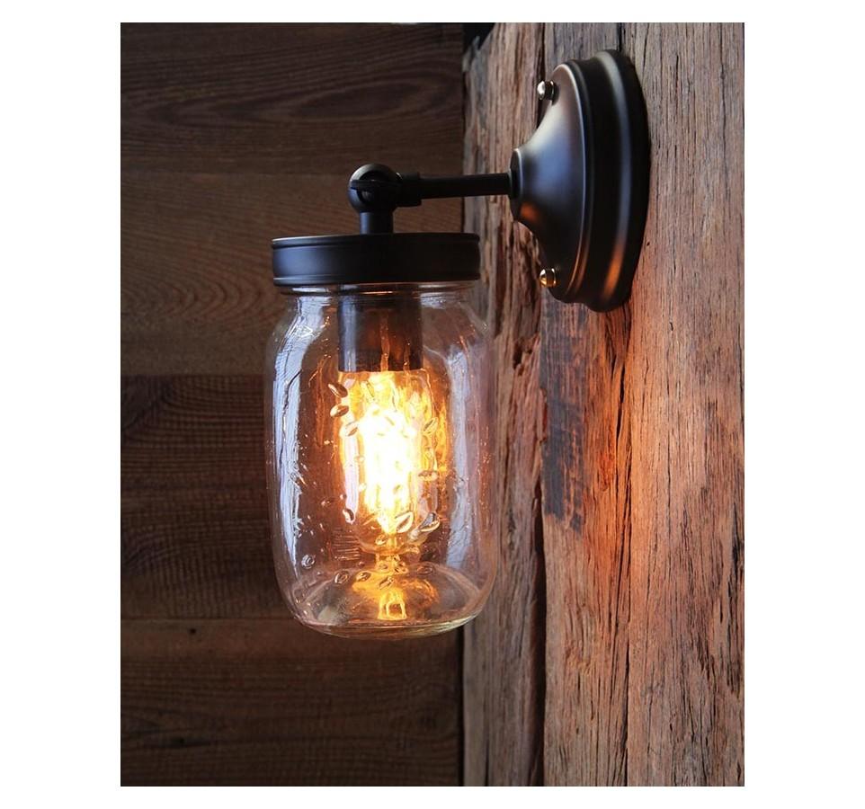 applique murale vintage cage industriel ampoule filament. Black Bedroom Furniture Sets. Home Design Ideas