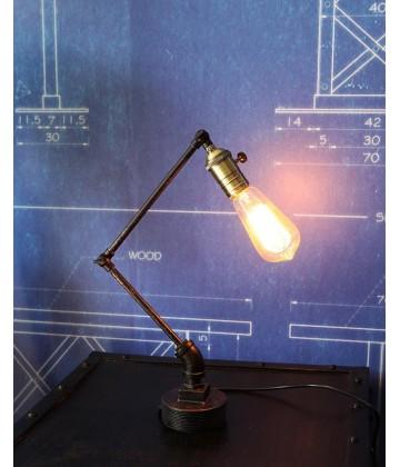 Lampe a poser Tube articule Vintage Industriel pour ampoule a filament