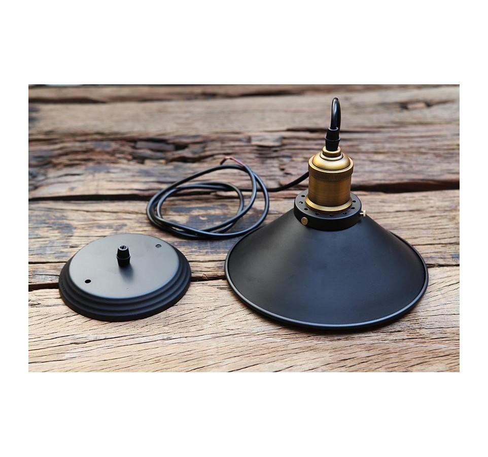 petite suspension vintage style industriel ampoule. Black Bedroom Furniture Sets. Home Design Ideas