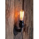 Applique murale tube simple style industriel - Pour Ampoule a filament Edison