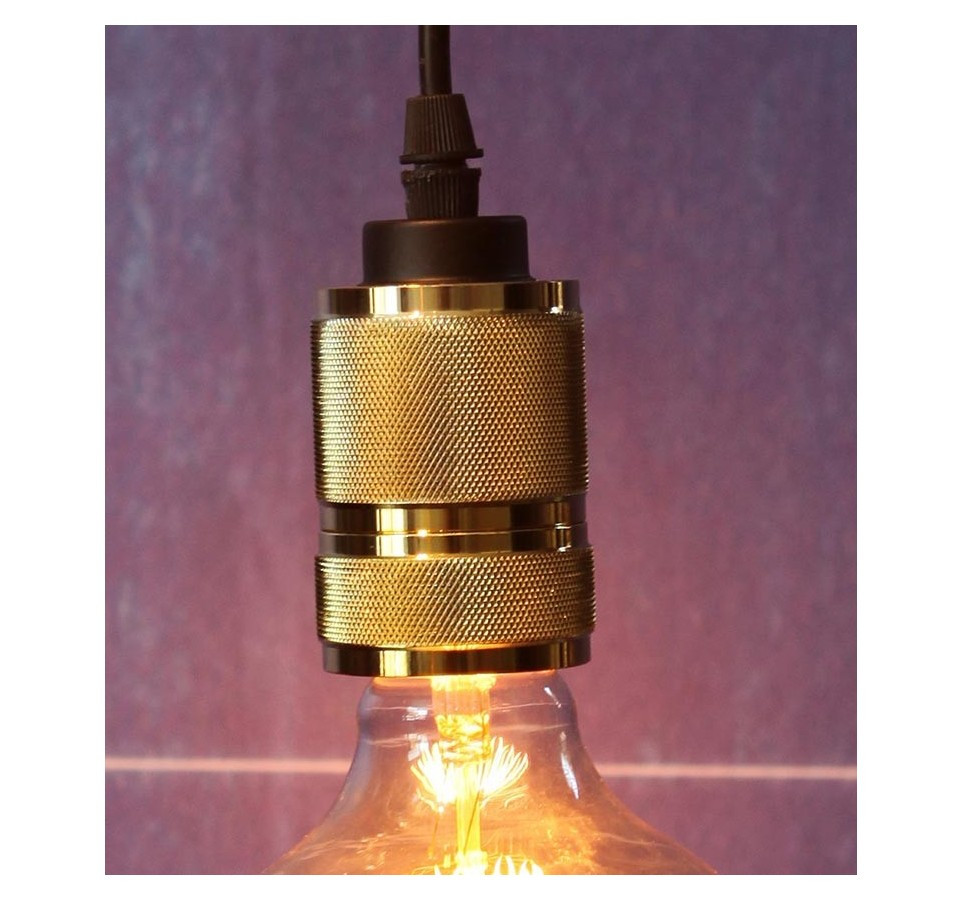 suspension douille laiton pour ampoule filament edison. Black Bedroom Furniture Sets. Home Design Ideas