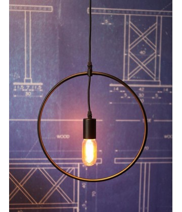 Suspension geometrique design Etoile / Cercle / Carre / Triangle / Rectangle - Pour Ampoule a filament Edison