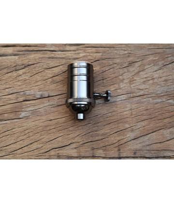 Douille Laiton Noir  avec interrupteur style Vintage Industriel