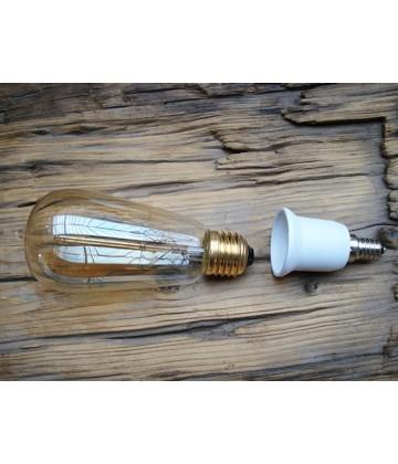 Adaptateur douille E14/E27 pour ampoules E27