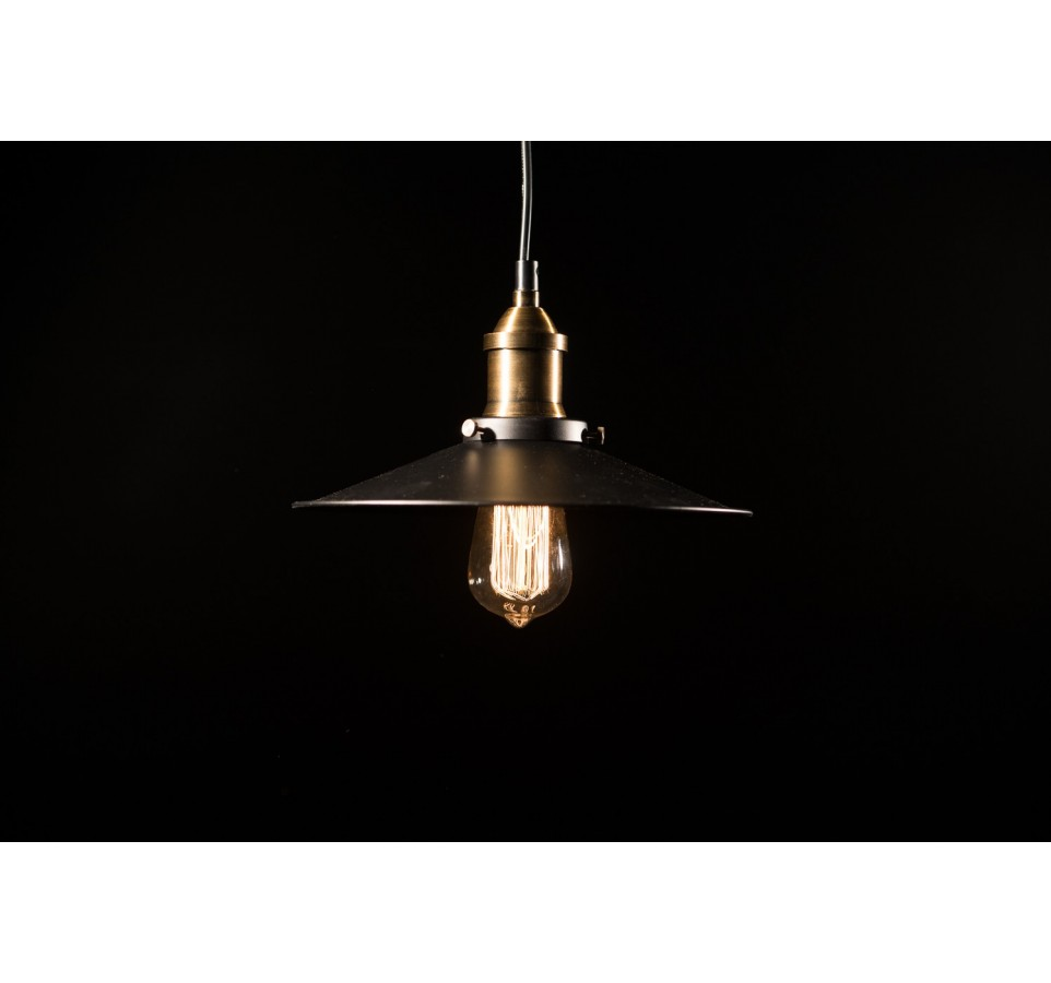 Suspension style industriel acier luminaire edison for Suspension ampoule