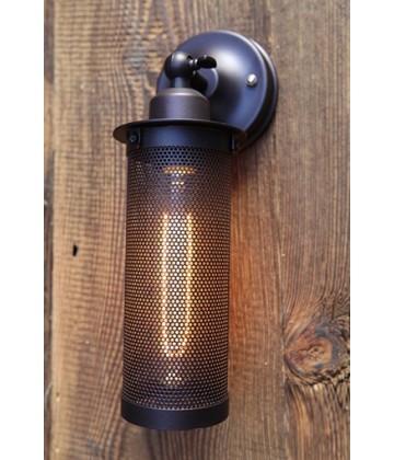 Applique murale a abat jour acier perfore Vintage industriel - Pour Ampoule a filament Edison