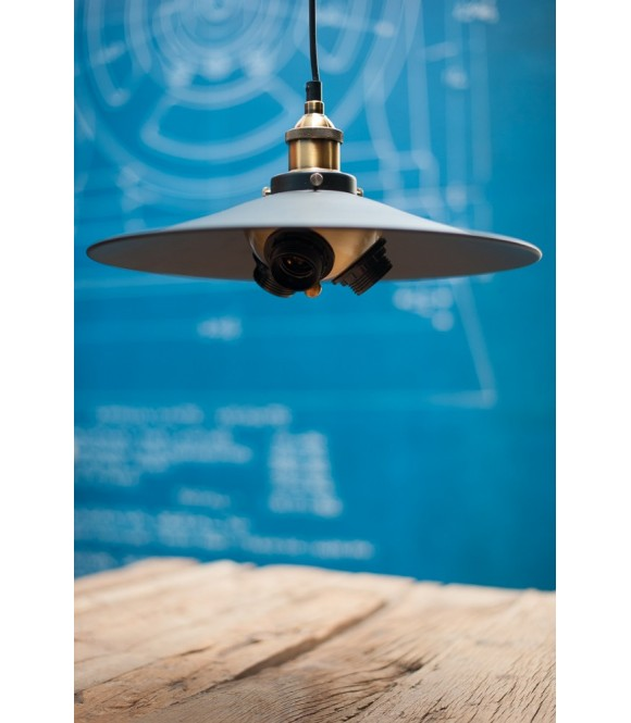 Suspension Vintage style industriel - Pour 3 Ampoules à filament Edison
