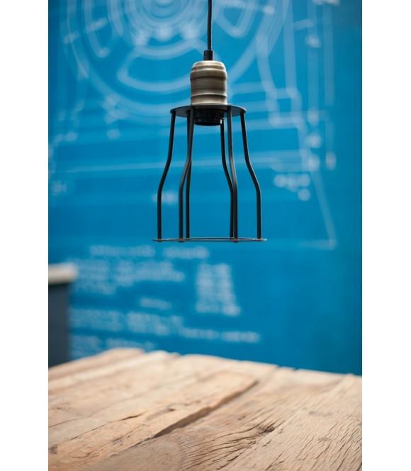 Suspension Vintage à cage style industriel - Pour  Ampoule à filament Edison