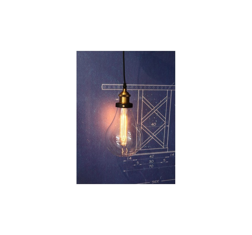 suspension plafond vintage avec 6 ou 10 pendants style vintage industriel pour ampoule. Black Bedroom Furniture Sets. Home Design Ideas