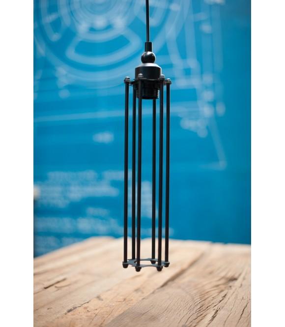 Suspension Vintage à panier style industriel - Pour  Ampoule à filament Edison