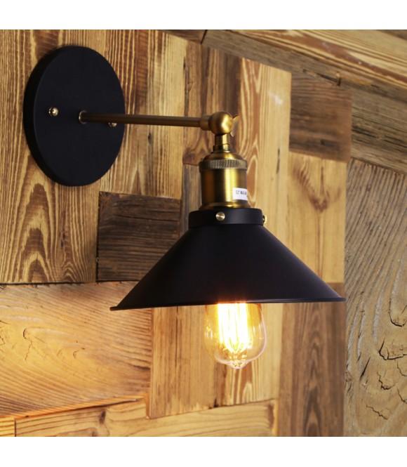 applique laiton abat jour en verre transparent vintage industriel. Black Bedroom Furniture Sets. Home Design Ideas