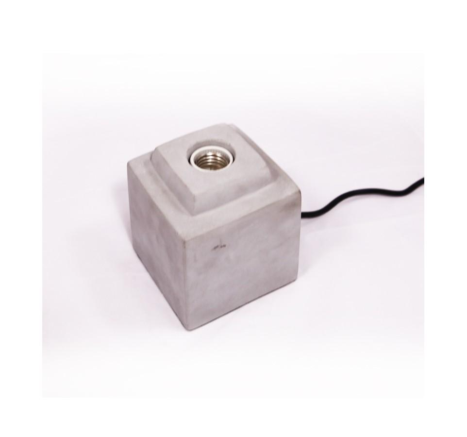 Lampe poser beton naturel pour ampoule a filament edison - Douille pour lampe a poser ...