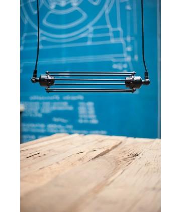 Double suspension a tube arme  style vintage industriel - Pour ampoule a filament Edison