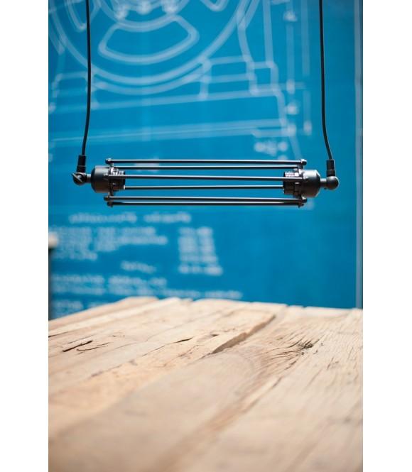 Double suspension Vintage à tube style industriel - Pour  2 ampoules à filament Edison