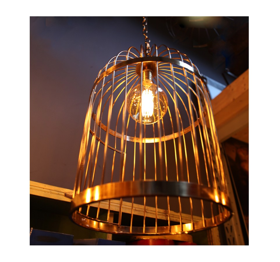 Suspension cage a oiseaux style vintage industriel - Suspension vintage industriel ...