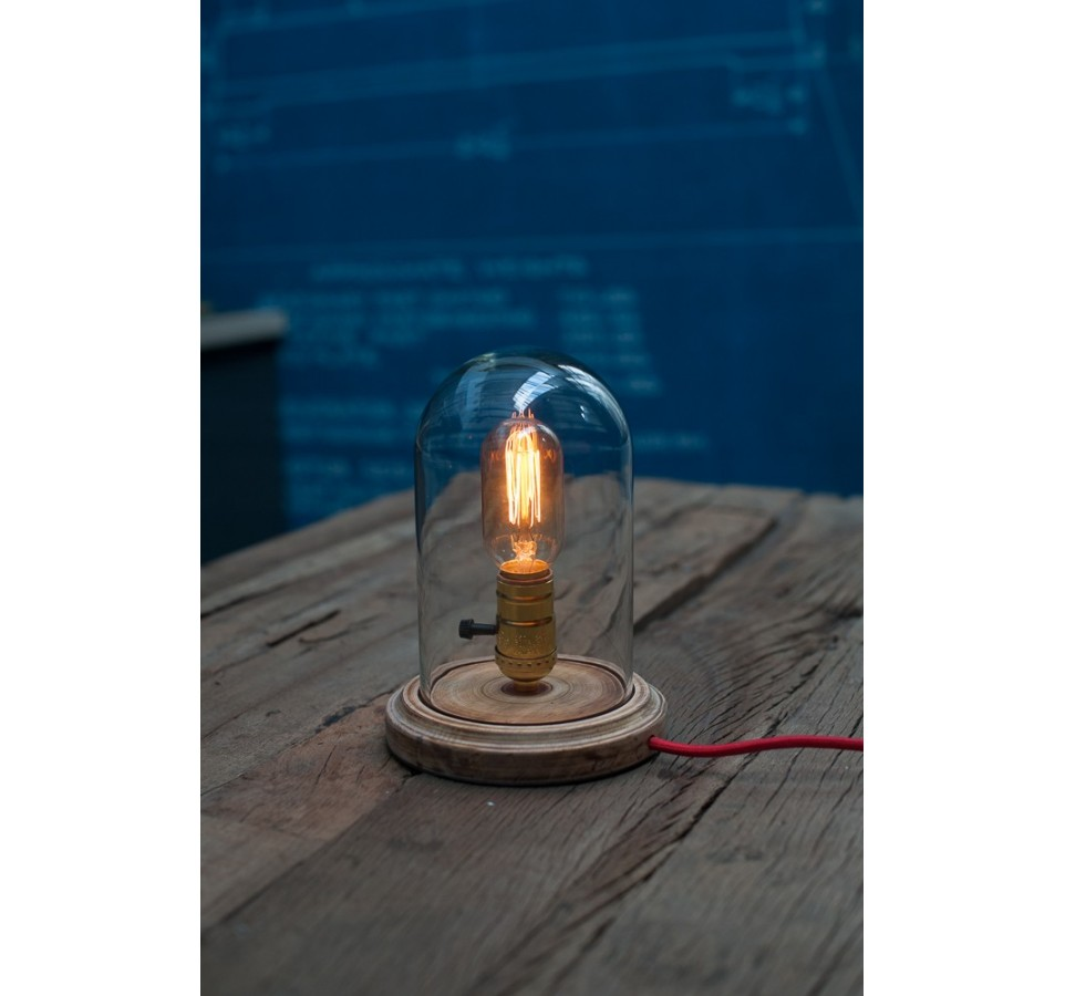 lampe poser globe verre pour ampoule a filament edison. Black Bedroom Furniture Sets. Home Design Ideas
