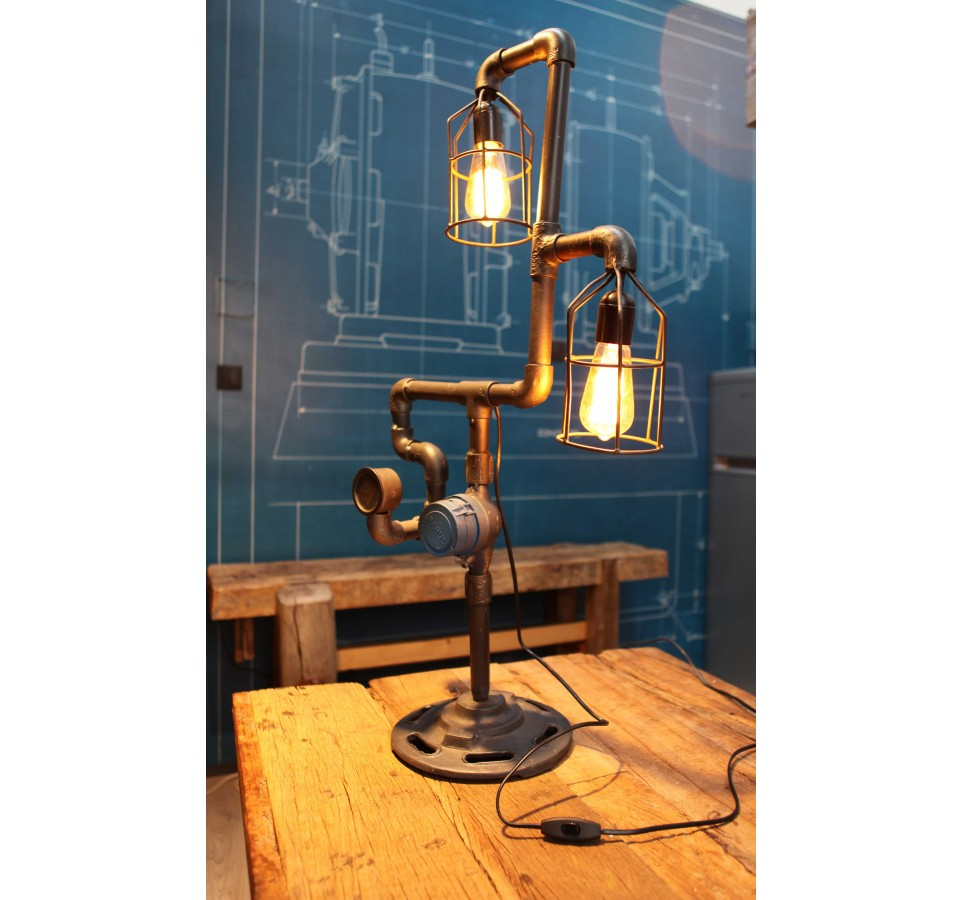 lampe poser tube compteur vintage industriel. Black Bedroom Furniture Sets. Home Design Ideas