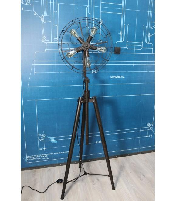Lampe Sur Trépied  Style Ventilateur Vintage