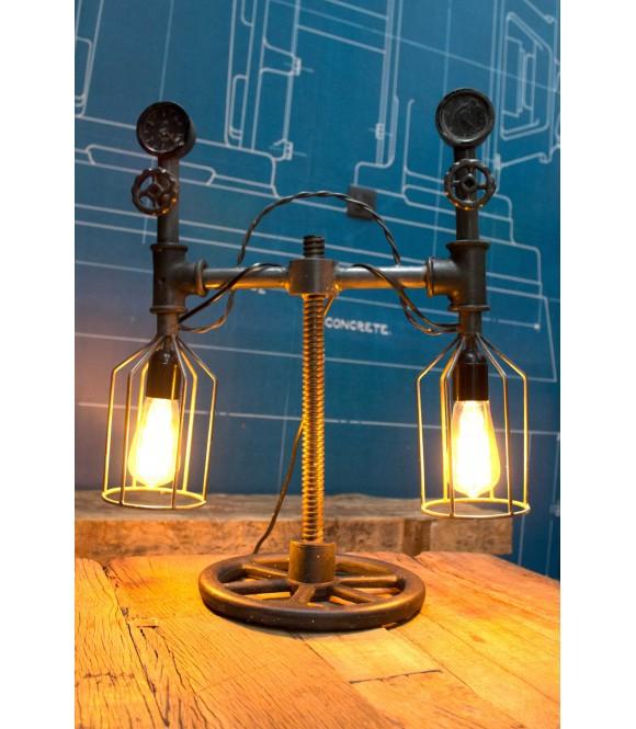Lampe poser tube compteur vintage industriel 2 me mod le - Lampe a poser industriel ...