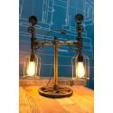 Lampe a poser Tube & Compteur Vintage Industriel 2
