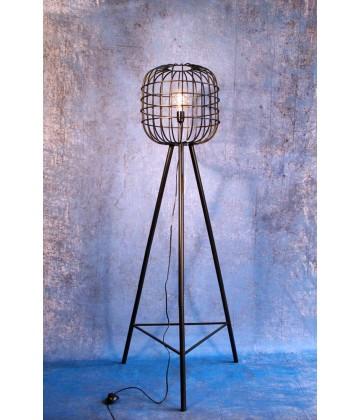 Lampadaire Vintage Industriel Cage sur trepied PM