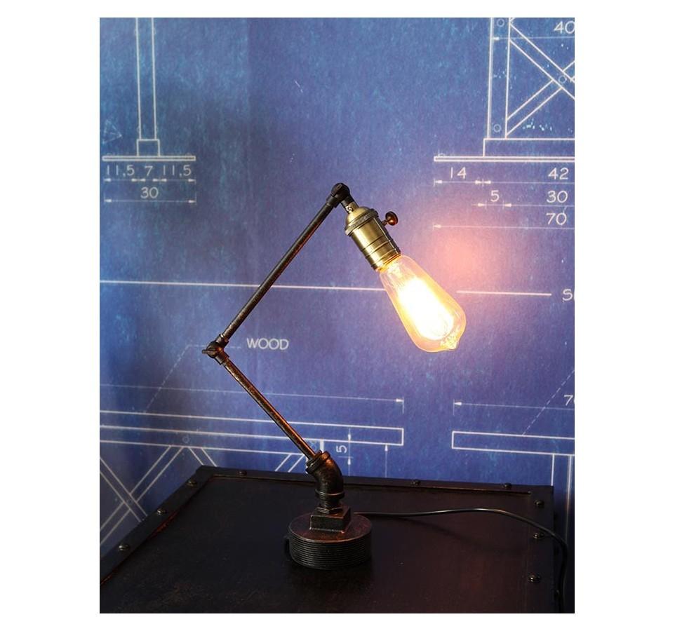 lampe poser tube articul vintage industriel. Black Bedroom Furniture Sets. Home Design Ideas
