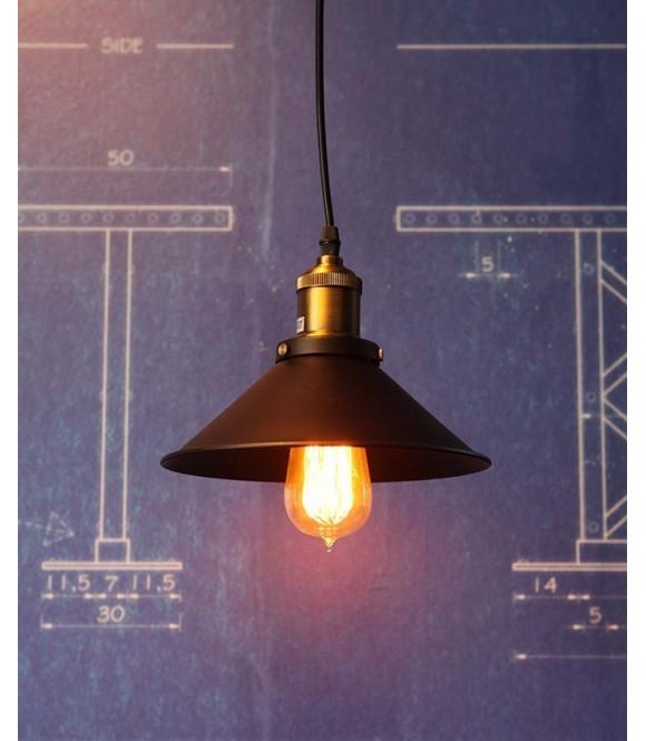 petite suspension retro pour ampoule a filament vintage industriel