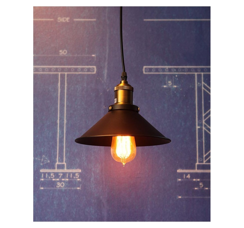 petite suspension vintage style industriel ampoule filament edison. Black Bedroom Furniture Sets. Home Design Ideas