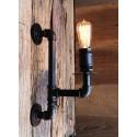 Applique murale tube & raccords style industriel - Pour Ampoule a filament Edison