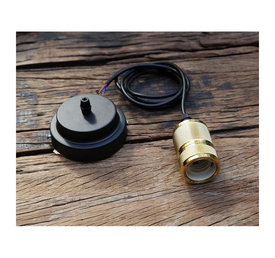 suspension douille laiton pour ampoule filament edison. Black Bedroom Furniture Sets. Home Design Ideas