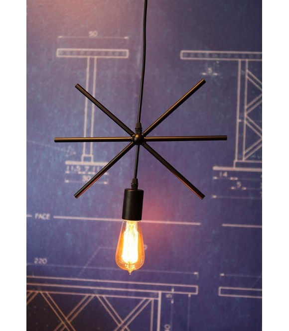 suspension design moderne cercle/carre/rectangle /triangle/ etoile ampoule filament