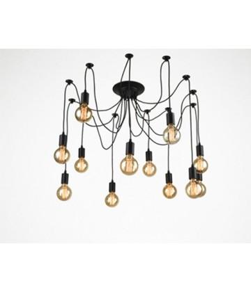 Suspension 6 ou 10 pendants - style vintage industriel - Pour Ampoule a filament Edison