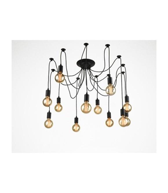 Suspension plafond vintage avec 6 ou 10 pendants style Vintage industriel