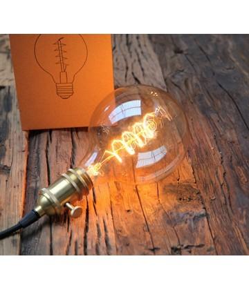 Ampoule Globe G125-2 a Filament colimaçon Edison E27 style Vintage Industriel