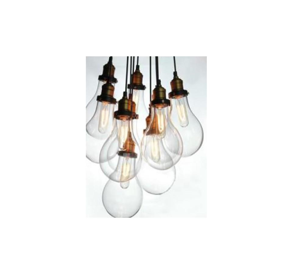 suspension plafond vintage avec 6 ou 10 pendants style. Black Bedroom Furniture Sets. Home Design Ideas