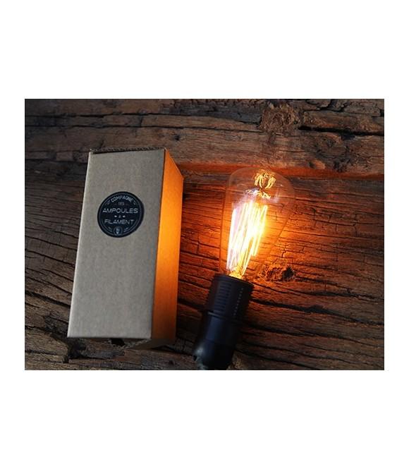 Poire Ampoule à Filament E14 Edison style Vintage Industriel C35