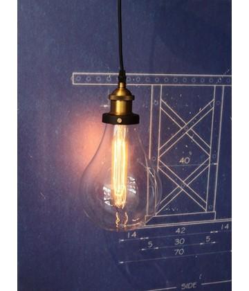 Suspension ampoule geante - style vintage industriel - Pour Ampoule a filament Edison