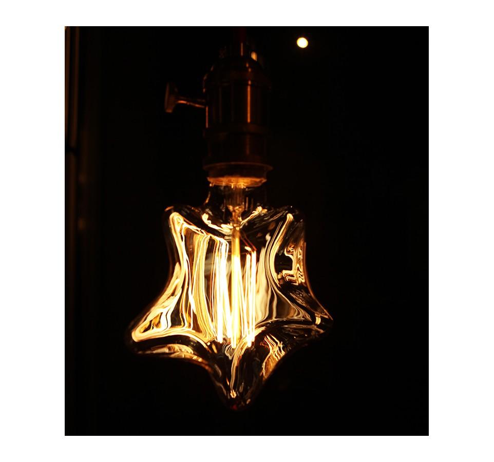Ampoule E27 Poire Edison À Cage Filament Etoile D'écureuil 4Aq35jRLSc