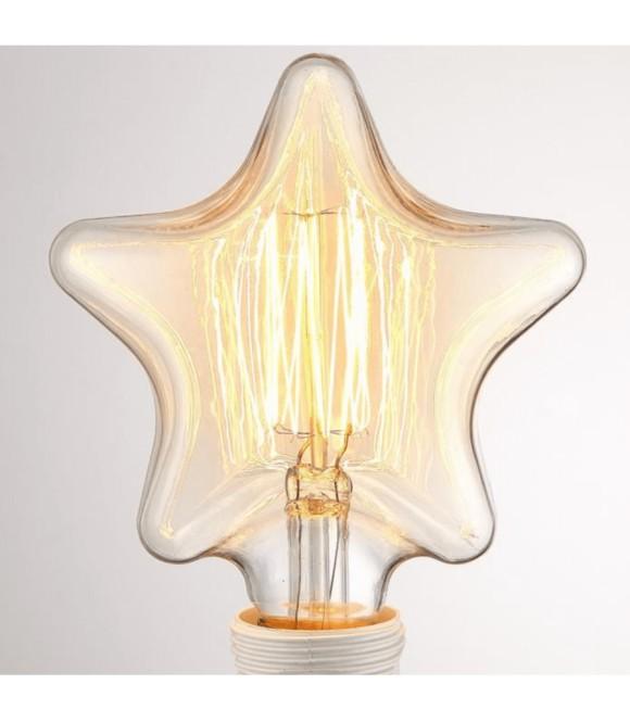 Ampoule ETOILE a Filament Edison E27 style Vintage Industriel