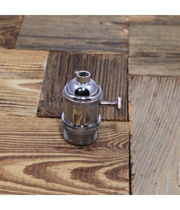 Douille Cuivre avec interrupteur style Vintage Industriel