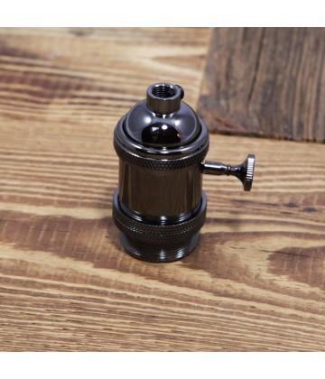 Douille Noire avec interrupteur style Vintage Industriel