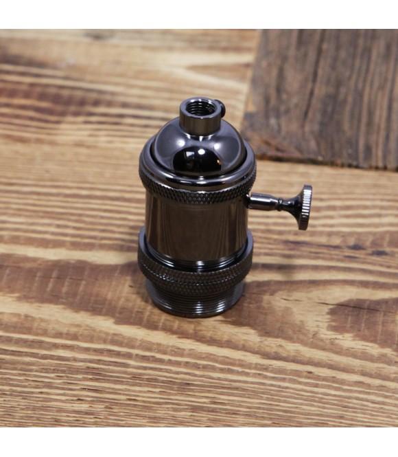 douille noire avec interrupteur style vintage industriel - Interrupteur Style Industriel