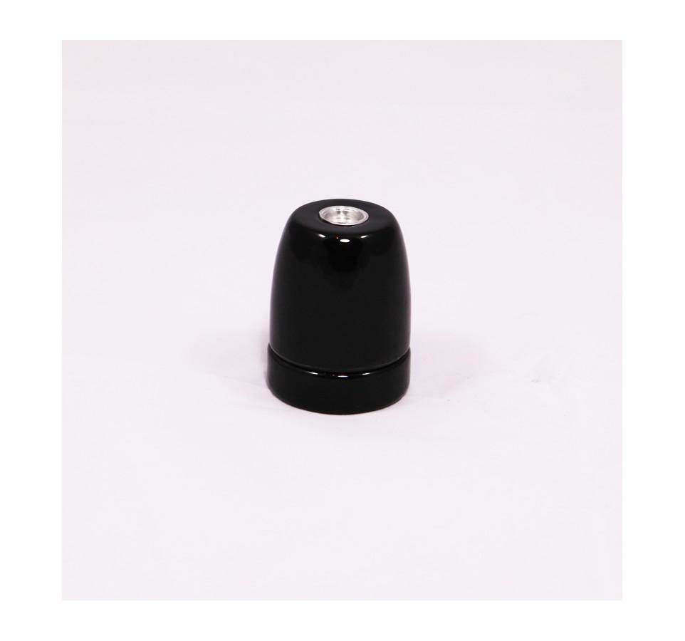 Douille porcelaine Noire style Vintage Industriel