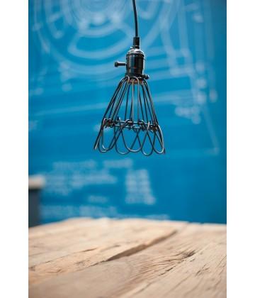 Suspension a panier style vintage industriel - Pour Ampoule a filament Edison