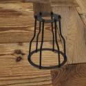 Abat-jour type Cage Vintage industriel - Pour Ampoule a Filament Edison