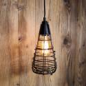 Suspension a cage fermee style vintage industriel - Pour Ampoule a filament Edison