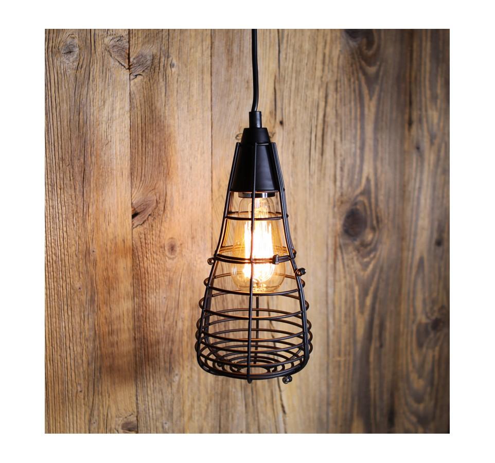 Suspension Vintage à Cage Pour Ampoule à Filament Edison St58