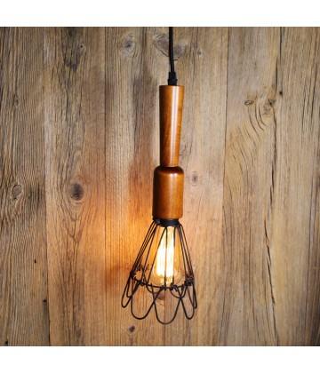Suspension a cage style vintage industriel - Pour Ampoule a filament Edison