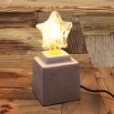 Lampe a poser - socle beton style vintage industriel pour ampoule a filament Edison